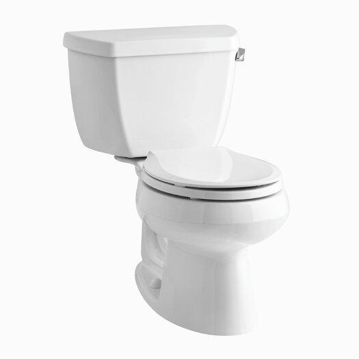 Wellworth Classic Two-Piece Round-Front 1.28 GPF Toilet with Class Five Flush Technology and Right-Hand Trip Lever Product Photo