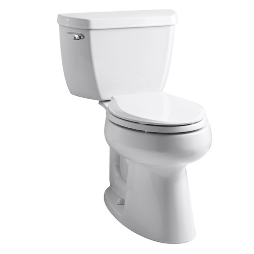 Highline Classic Comfort Height Two-Piece Elongated 1.28 GPF Toilet with Class Five Flush Technology and Left-Hand Tr... Product Photo