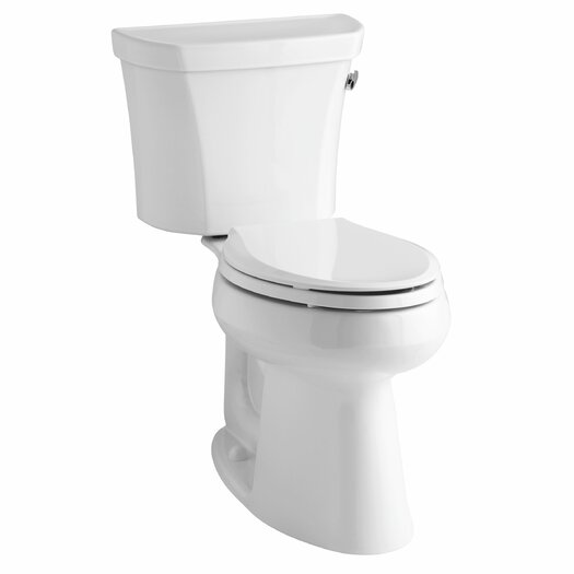 Highline Comfort Height Two-Piece Elongated 1.28 GPF Toilet with Class Five Flush Technology and Right-Hand Trip Lever Product Photo