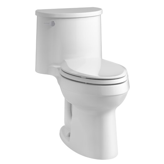 Adair Comfort Height One-Piece Elongated 1.28 GPF Toilet with Aquapiston Flushing Technology and Left-Hand Trip Lever Product Photo