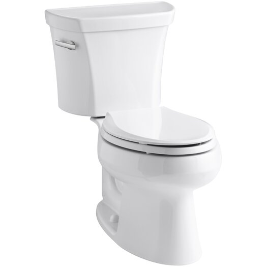 Wellworth Two-Piece Elongated 1.6 GPF Toilet with Class Five Flush Technology and Left-Hand Trip Lever Product Photo