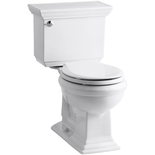 Memoirs Stately Comfort Height Two-Piece Round-Front 1.28 GPF Toilet with Aquapiston Flush Technology and Left-Hand T... Product Photo