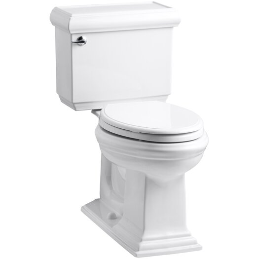 Memoirs Classic Comfort Height Two-Piece Elongated 1.28 GPF Toilet with Aquapiston Flush Technology and Left-Hand Tri... Product Photo