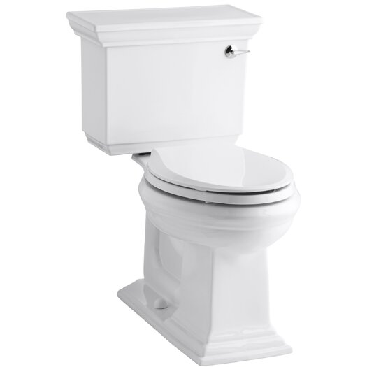 Memoirs Stately Comfort Height Two-Piece Elongated 1.28 GPF Toilet with Aquapiston Flush Technology and Right-Hand Tr... Product Photo