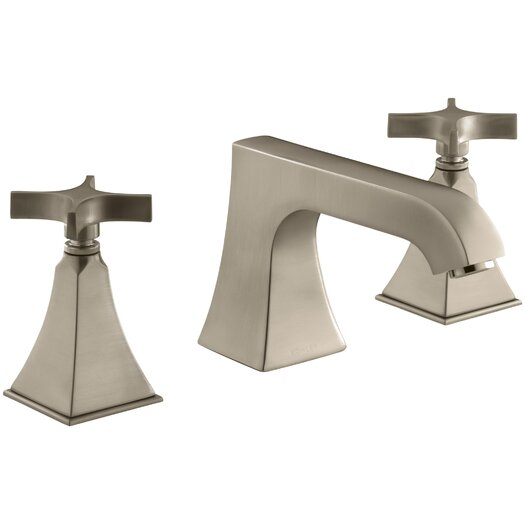 Kohler Memoirs Stately Deck-Mount Bath Faucet Trim with Non-Diverter Spout and Cross Handles, Valve Not Included