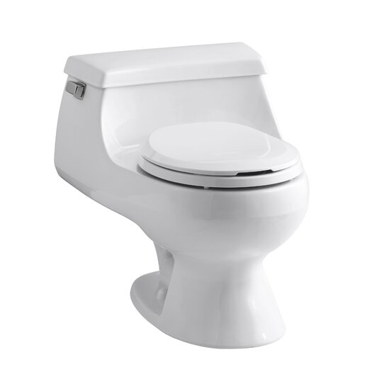 Rialto One-Piece Round-Front 1.6 GPF Toilet with Rim Jet Flush Technology, Left-Hand Trip Lever and French Curve Toil... Product Photo