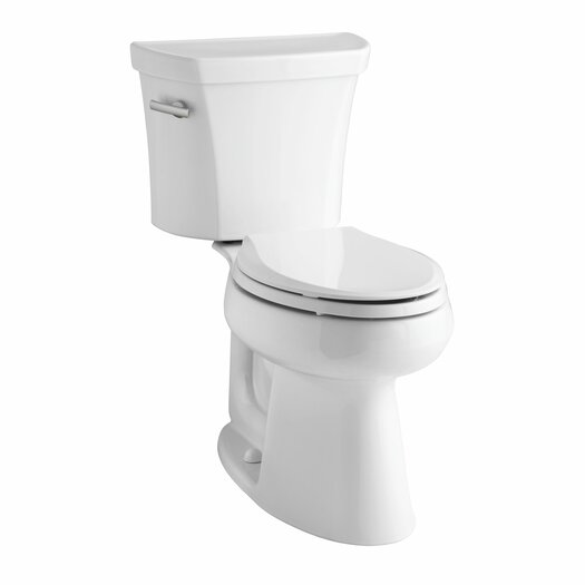 Highline Comfort Height Two-Piece Elongated 1.28 GPF Toilet with Class Five Flush Technology and Left-Hand Trip Lever Product Photo