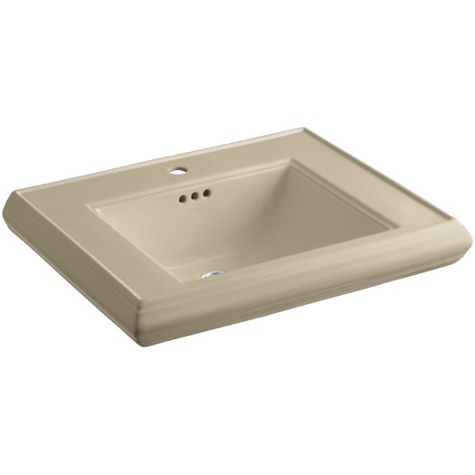 Kohler Sink Protectors : Kohler Memoirs Pedestal Bathroom Sink Basin with Single Faucet Hole ...
