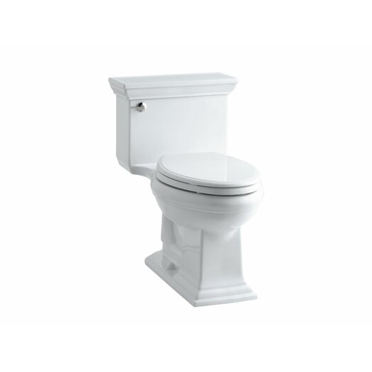 Memoirs Stately Comfort Height One-Piece Elongated 1.28 GPF Toilet with Aquapiston Flush Technology and Left-Hand Tri... Product Photo