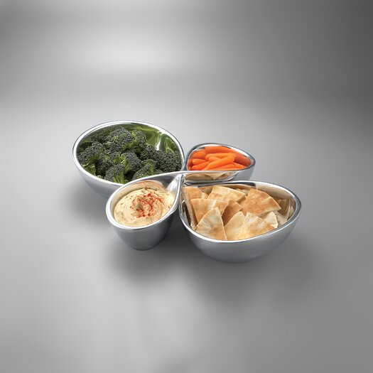 Nambe Infinity Divided Serving Dish