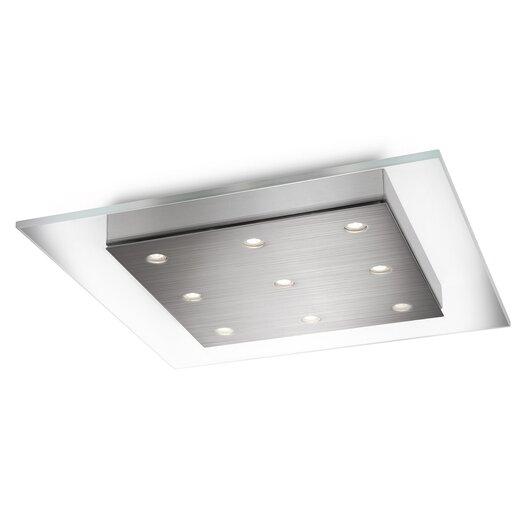 philips consumer luminaire matrix 9 light flush mount allmodern. Black Bedroom Furniture Sets. Home Design Ideas