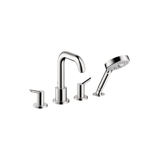 Hansgrohe Focus S Two Handle Deck Mounted Roman Tub Faucet with Hand Shower
