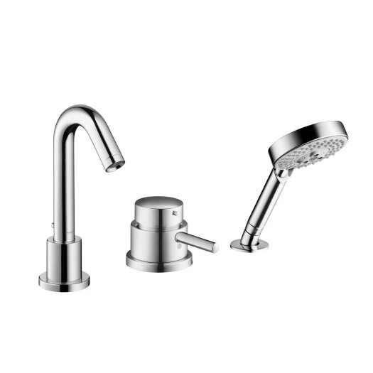 Hansgrohe Talis S Single Handle Deck Mounted Roman Tub Faucet Trim with Hand Shower