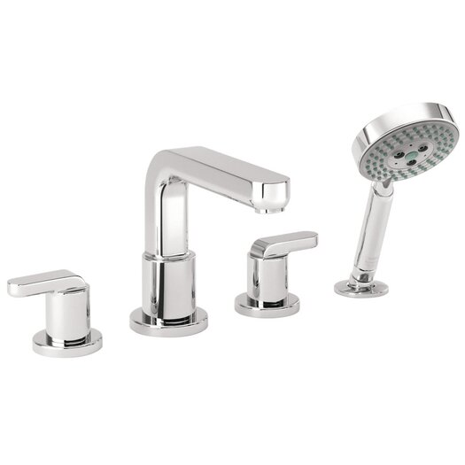 Hansgrohe Metris S Two Handle Deck Mount Roman Tub Faucet with Hand Shower