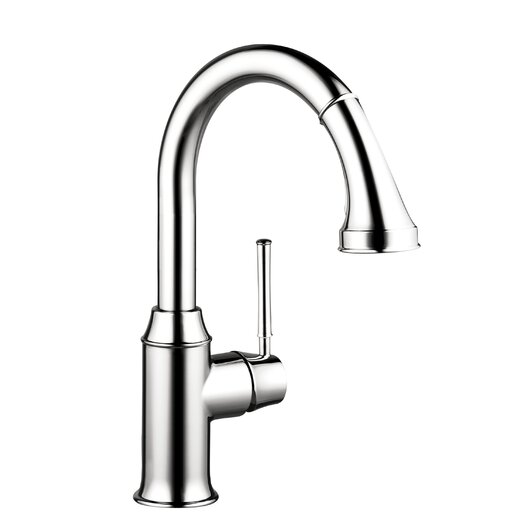 Hansgrohe Talis C Prep One Handle Deck Mounted Kitchen Faucet with Pull Down 2 Spray