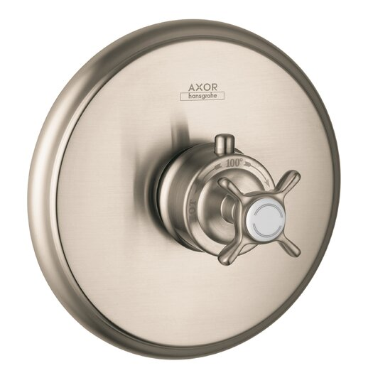 Hansgrohe Axor Montreaux Thermostatic Faucet Trim with Cross Handle