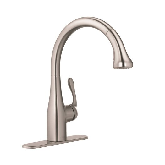 Hansgrohe Allegro E One Handle Deck Mounted Bar Faucet with Full Spray and Needle Spray