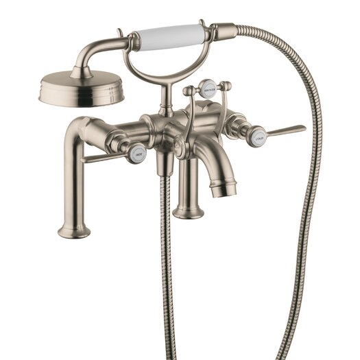 Hansgrohe Axor Montreux Two Handle Wall Mounted Freestanding Tub Filler with Hand Showe
