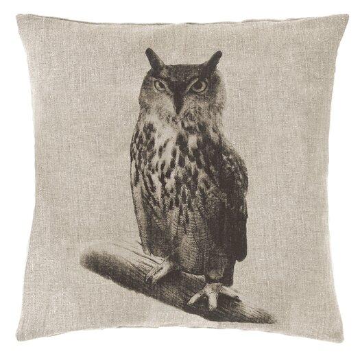 Pine Cone Hill Hoot Linen Throw Pillow