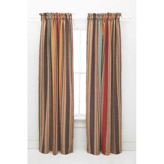 Pine Cone Hill Whitney Cotton Rod Pocket Single Curtain Panel