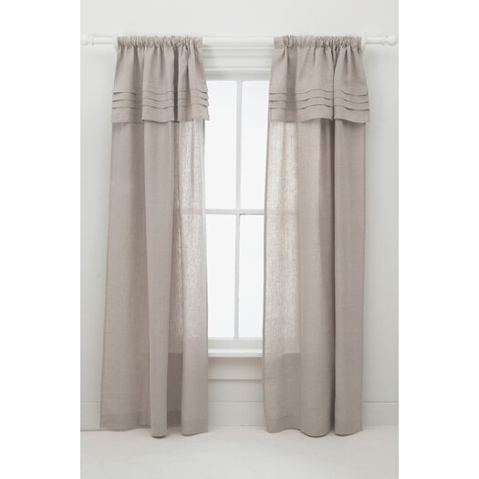 Pine Cone Hill Pleated Linen Single Curtain Panel