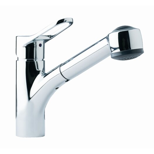 Franke Single Handle Single Hole Kitchen Faucet with Pull Out Spray