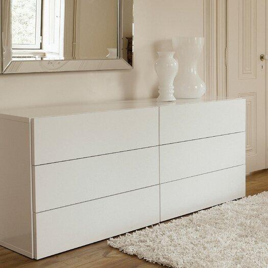 Tema Aurora Dresser of 6 Drawers