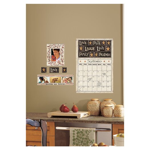 Room Mates Peel and Stick Giant 10 Piece Family and Friends Dry Erase Calendar Wall Decal