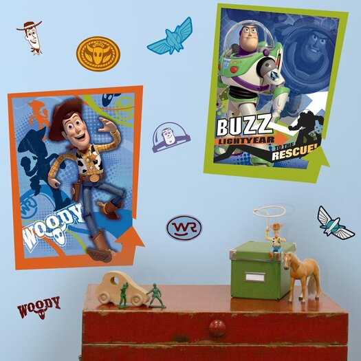 Room Mates Toy Story Buzz and Woody Wall Decal