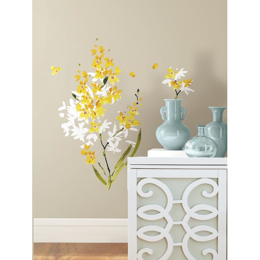 Room Mates Deco 29 Piece Flower Arrangement Wall Decal
