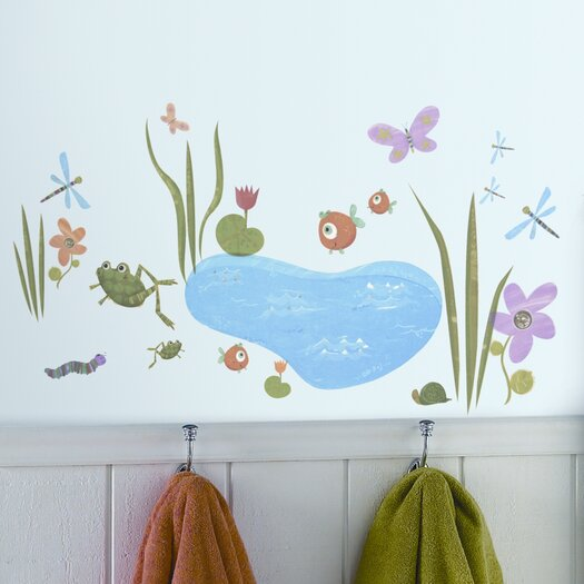 Room Mates Studio Designs 40 Piece Hoppy Pond Wall Decal