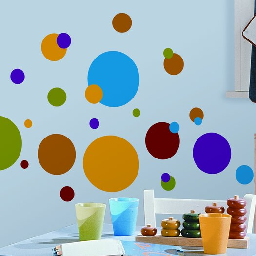 Room Mates Studio Designs 31 Piece Just Dots Wall Decal