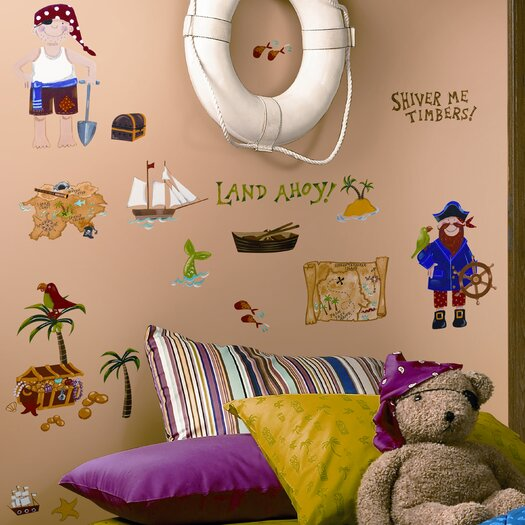 Room Mates Studio Designs 45 Piece Treasure Hunt Wall Decal