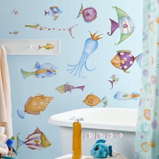 Room Mates Studio Designs 35 Piece Sea Creatures Wall Decal