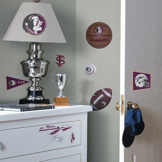 Room Mates Collegiate Sports Appliqué 29 Piece Florida State Seminoles Wall Decal