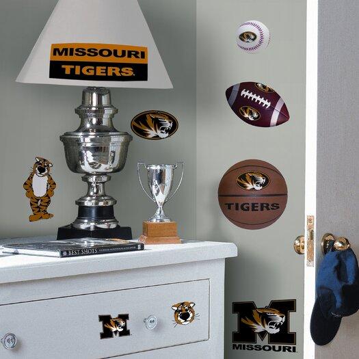 Room Mates Collegiate Sports Appliqué 24 Piece University of Missouri Wall Decal