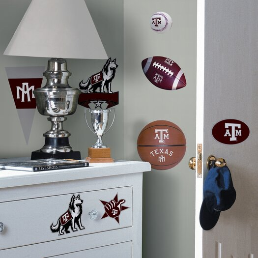 Room Mates Collegiate Sports Appliqué 21 Piece Texas A and M Wall Decal