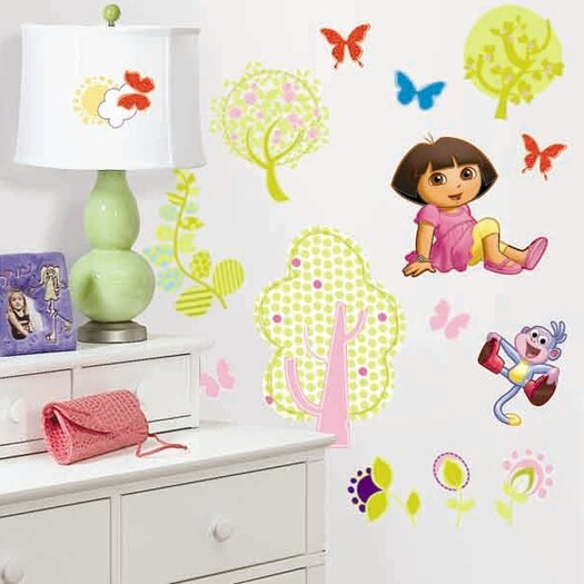 Room Mates Favorite Characters 28 Piece Nickelodeon Dora The Explorer Wall Decal
