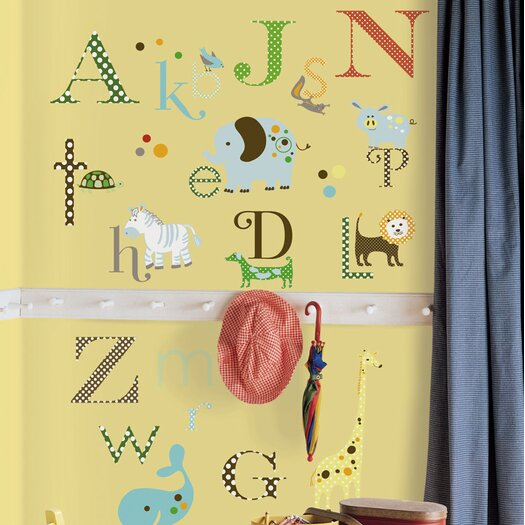 Room Mates Studio Designs 107 Piece Studio Designs Animal Alphabet Wall Decal