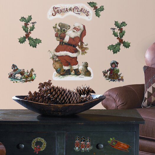 Room Mates Seasonal 22 Piece Santa Wall Decal
