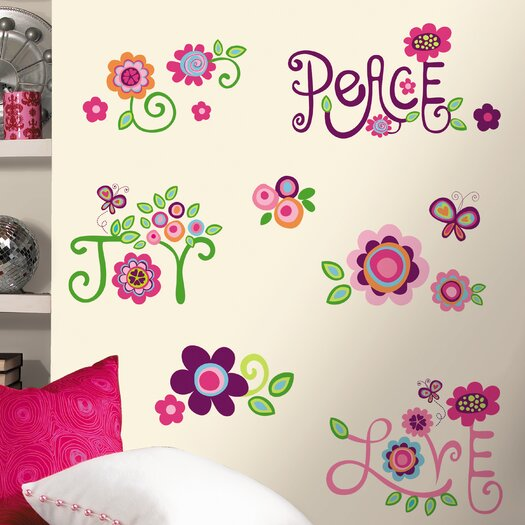 Room Mates Room Mates Deco Love Joy Peace Wall Decal