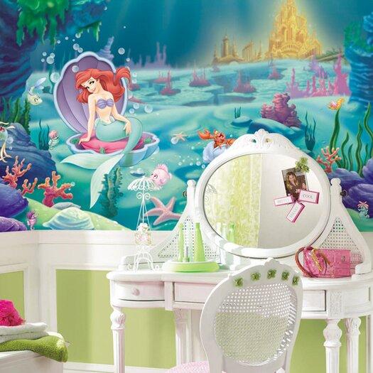 Room Mates Littlest Mermaid Wall Mural