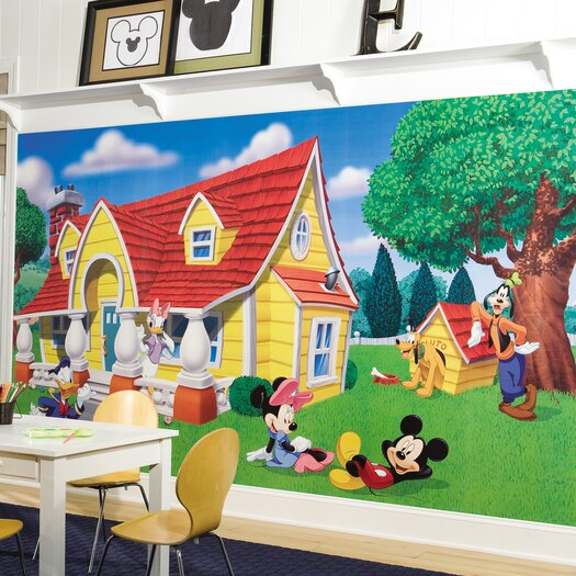 Room Mates Mickey and Friends Wall Mural
