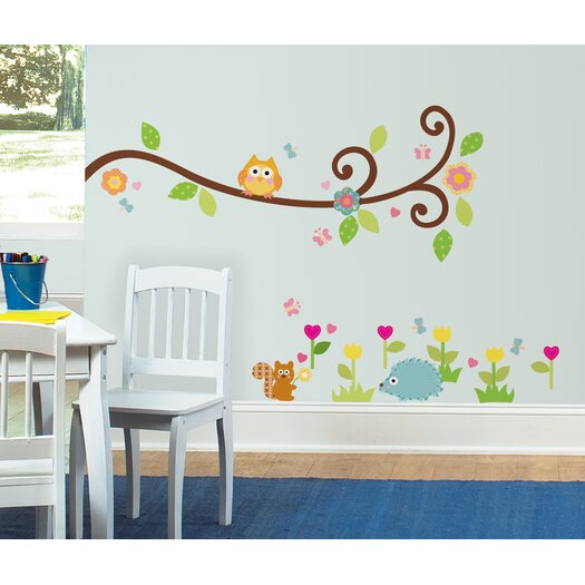 Room Mates Studio Designs Happi Scroll Branch Wall Decal