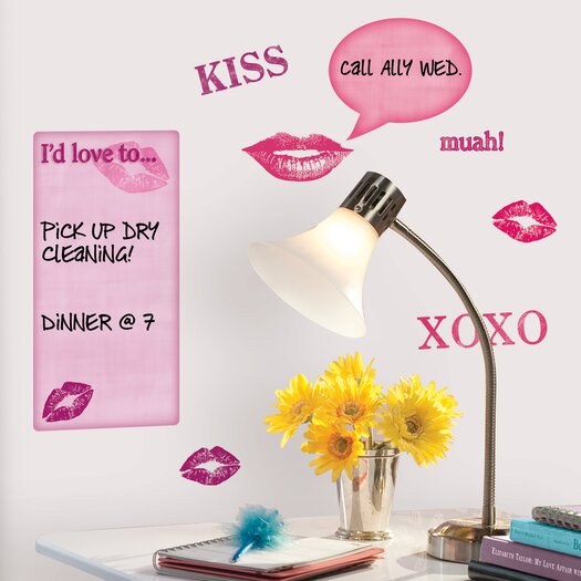 Room Mates Studio Designs Kisses Dry Erase Wall Decal