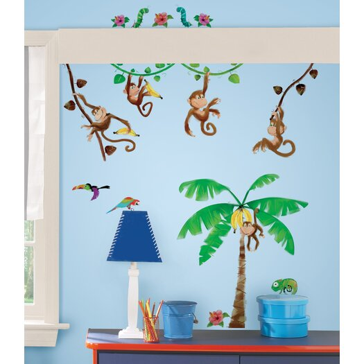 Room Mates Studio Designs Monkey Business Wall Decal