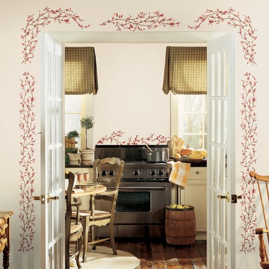 Room Mates Deco Berry Vine Wall Decal