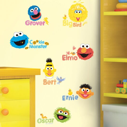 Room Mates Sesame Street Scribble Wall Decal
