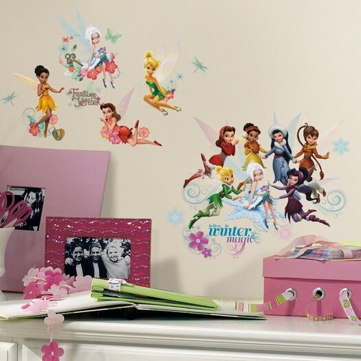 Room Mates Peel and Stick 54 Piece Disney Fairies Secret of The Wings Wall Decal