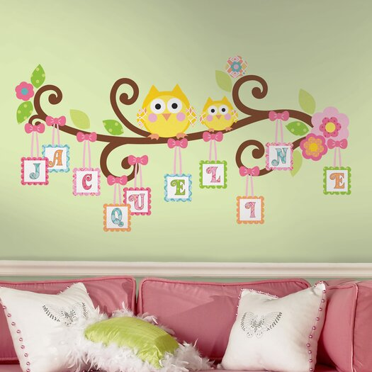 Room Mates Peel and Stick Giant Happi Scroll Tree Letter Branch Wall Decal